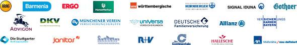 Logos der Versicherungen